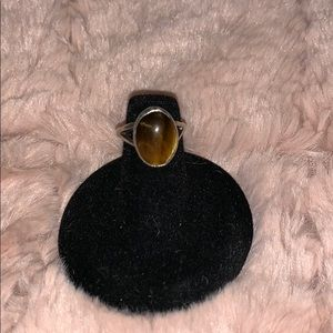 Jewelry - Vintage sterling silver tigers eye ring